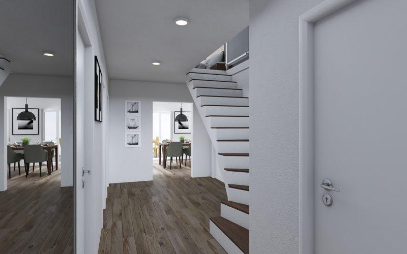 Flur mit Treppenaufgang Obergeschoss